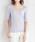 Pierrot(ピエロ)の「VネックorUネック選べる 半袖綿混サマーリブニット(ニット/セーター)」|ラベンダー