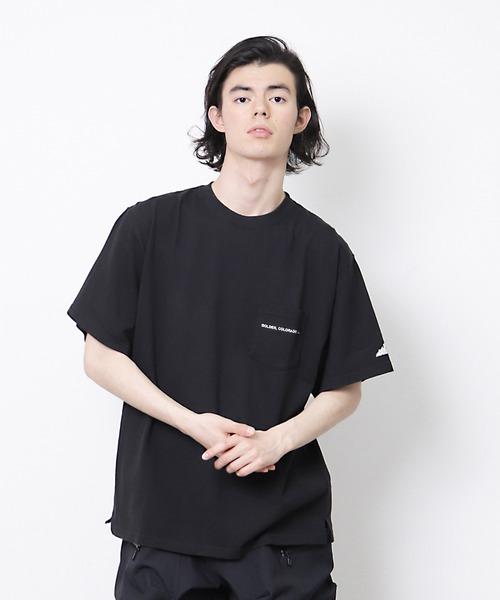 【 MOUNTAIN SMITH / マウンテンスミス 】19SS POCKET EMBRO T ポケット刺繍T シャツ ポケT
