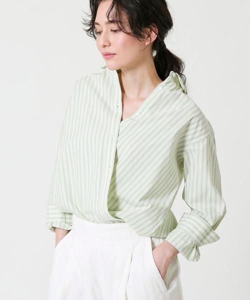2wayカシュクールシャツ#