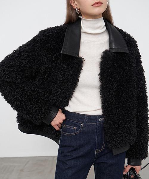 【Fano Studios】【2021AW】poodle fur leather blouson FD20W149