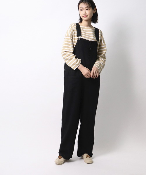 【 ubasoku / ウバソク 】胸ポケット ツイル オーバーオール BNT  ub0176