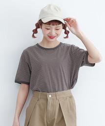 merlot(メルロー)の配色リンガーTシャツ2847(Tシャツ/カットソー)