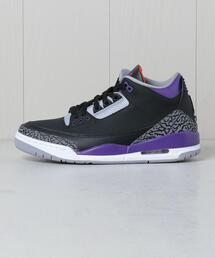 <NIKE>AIRJORDAN 3 RETRO COURT PURPLE/スニーカー.