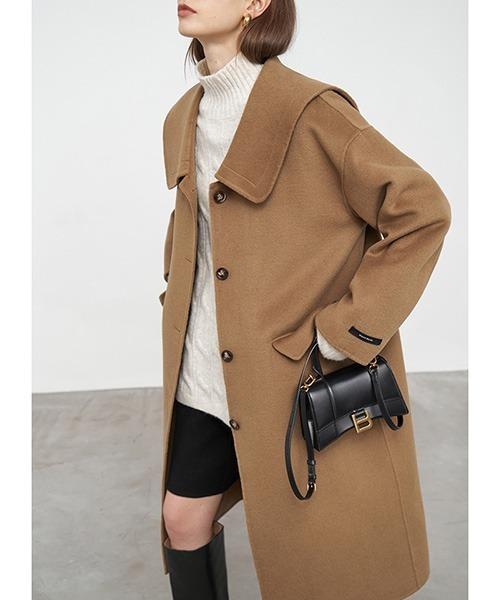 【Fano Studios】【2021AW】Drop neck big collar river tailoring wool coat FD20W207
