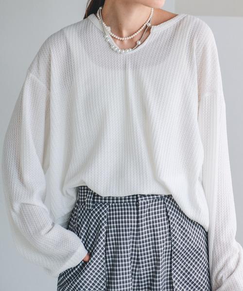 【chuclla】【2021/AW】Waffle cloth pullover chw1474
