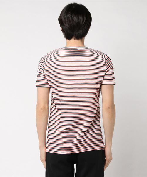 TORNADO MART∴マルチリップルボーダー半袖カットソー