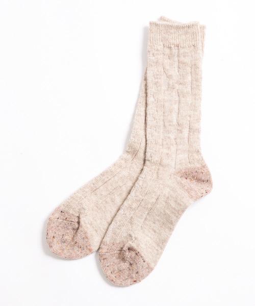collex(コレックス)の「[TRICOTIE]ネップウールソックス(ソックス/靴下)」|ベージュ