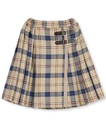 BRANSHES(ブランシェス)のラップ風チェックスカート(スカート)