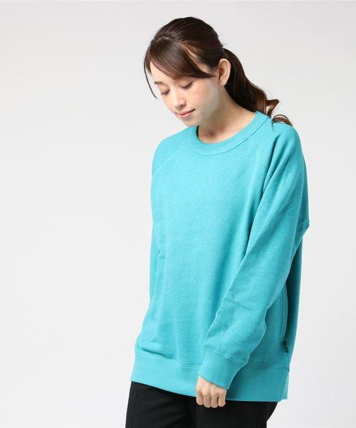 CREW PK SWEAT/H/C FLEECE 裏起毛スウェット素材 ヘンプコットンクルースウェットシャツ