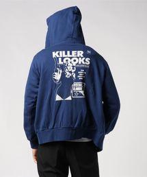 KILLER LOOKSパーカーネイビー