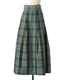 〈Scye(サイ)〉 CHECK MAXI スカート