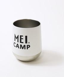 WEBメディア CAMP HACK 掲載 【 MEI CAMP / メイキャンプ 】 サーモラウンドタンブラー ステンレス 保温 保冷ホワイト