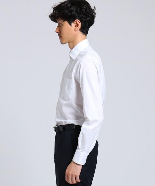 シャドーパターンドレスシャツ[ メンズ ビジネス フォーマル ]