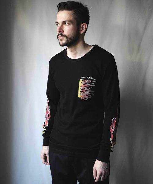 CORE FIGHTER(コアファイター)の「FLAME THERMAL TOPS(Tシャツ/カットソー)」 ブラック