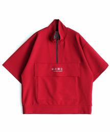 SHAREEF(シャリーフ)のRIPPLE HALF ZIP S/S BIG-T(Tシャツ/カットソー)