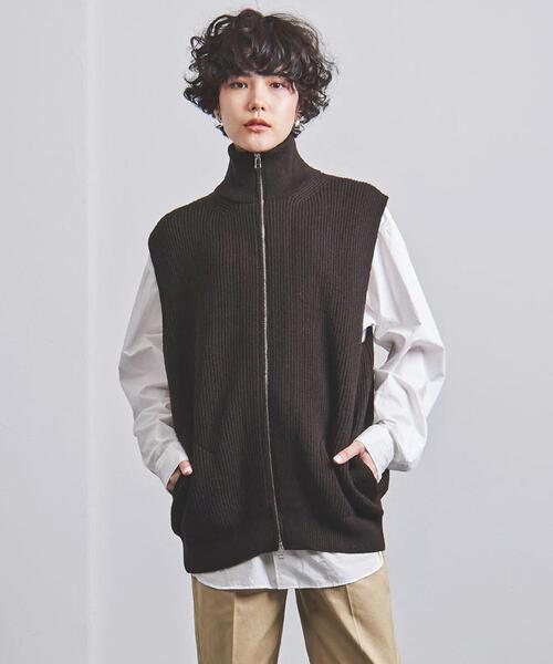 【オープニングセール】 <unfil(アンフィル)>ジップアップ Style ニットベスト(ニット for UNITED/セーター)|unfil(アンフィル)のファッション通販, ワッカナイシ:2a8c18c1 --- skoda-tmn.ru