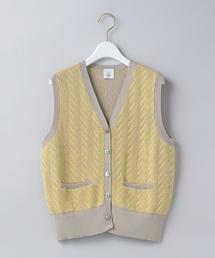 <6(ROKU)>CABLE KNIT VEST/ベスト