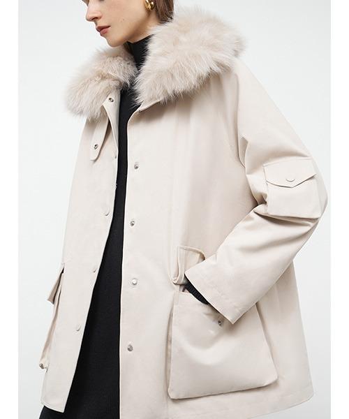 【Fano Studios】【2021AW】Fox fur military coat FD20W210