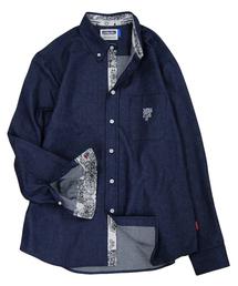DOUBLE STEAL(ダブルスティール)のパーツバンダナデニムボタンダウンシャツ(シャツ/ブラウス)