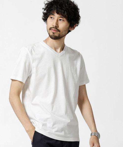 ピグメントバイオ加工VネックTシャツ