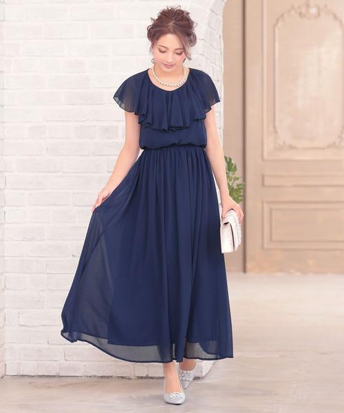 99ec9bee2260a Retica(レティカ)のウエスト切り替えロングフレアパーティードレスワンピース(ドレス)