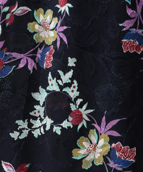 【ITALY FABRIC】【ウォッシャブル】フラワーカットジャカードドレス