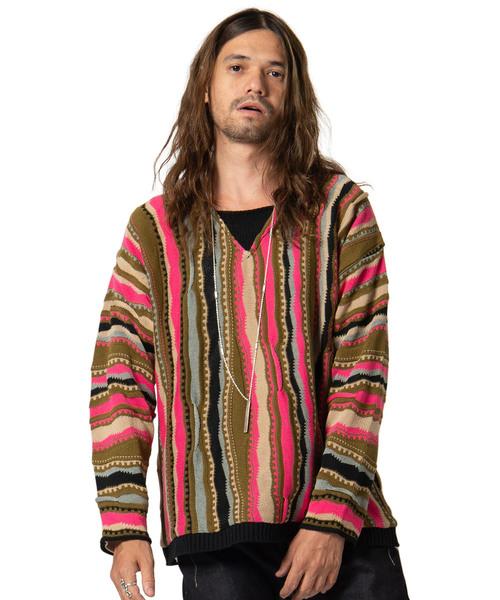 Abbas stripe knit / アバスストライプニット