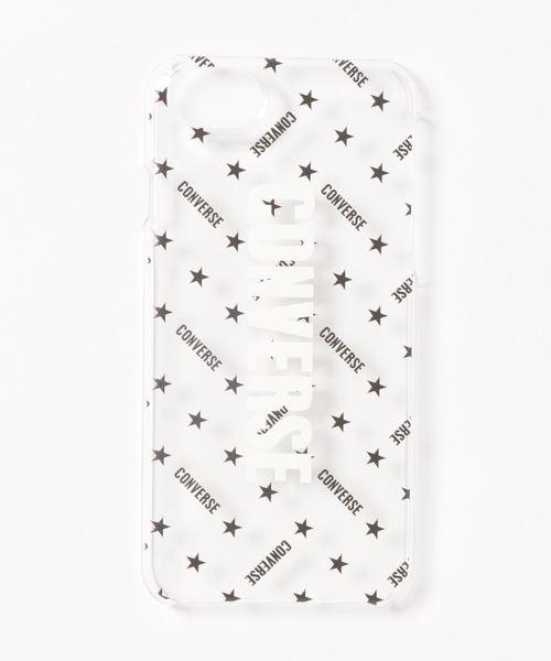 CONVERSE STARS(コンバーススターズ)の「ロゴクリアiPhoneケース(モバイルケース/カバー)」 ブラック