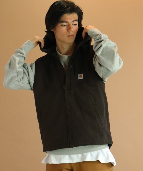 【 carhartt / カーハート 】M Washed Duck Knoxville Vest 103837