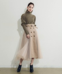 la belle Etude(ラベルエチュード)の【LA BELLE ETUDE】サイドチュールトレンチスカート(スカート)