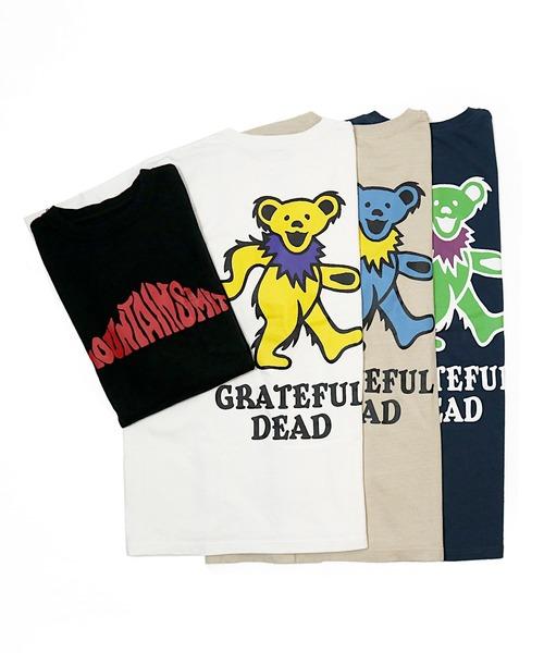 FINE 7月号 P65 掲載【 Mountain smith 】MOUNTAINSMITH × GRATEFUL DEAD  グレイトフルデッド Tシャツ ダンシングベア