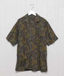 <KAPTAIN SUNSHINE>DARK PAISLEY OPEN COLLAR SHIRT/シャツ.