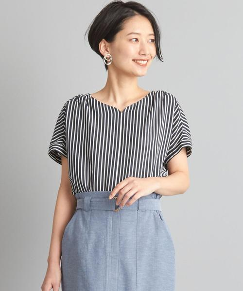 【WORK TRIP OUTFITS】★WTO BC ストライプ ブラウス