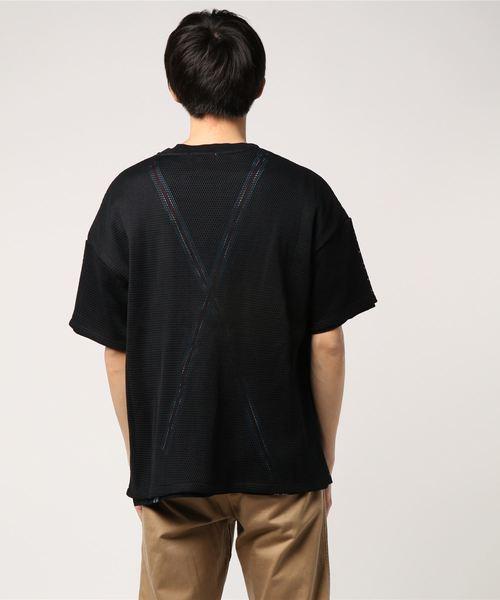メッシュフェイクベルトTシャツ