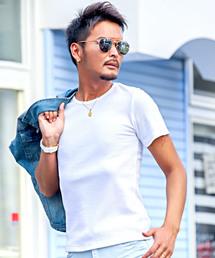 LUXSTYLE(ラグスタイル)のサーマルクルーネックTシャツ(Tシャツ/カットソー)