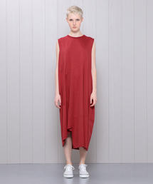 <08SIRCUS>CROSS JERSEY SWITCHING DRESS/ワンピース