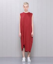 <08SIRCUS>CROSS JERSEY SWITCHING DRESS/ワンピース