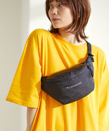 【CONVERSE WAIST BAG】コンバース リップ ロゴ ウエストバッグブラック