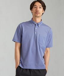 CSN ドット ジャカード 半袖 ポロシャツ