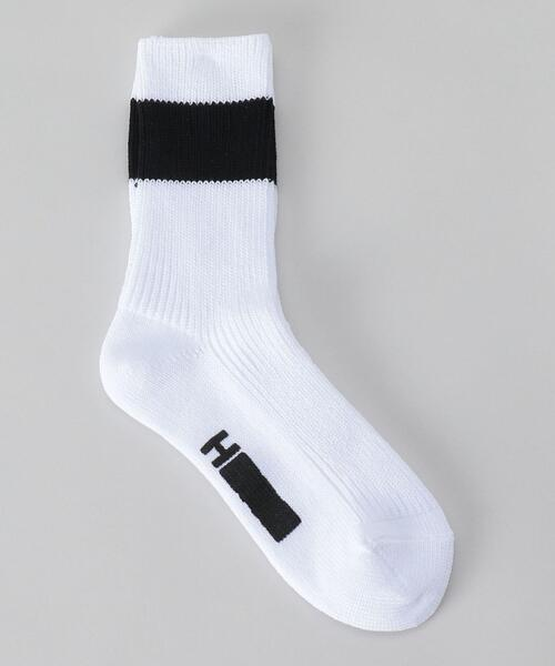 <H>PANEL RIB SOCKS WOMEN'S SIZE/ソックス