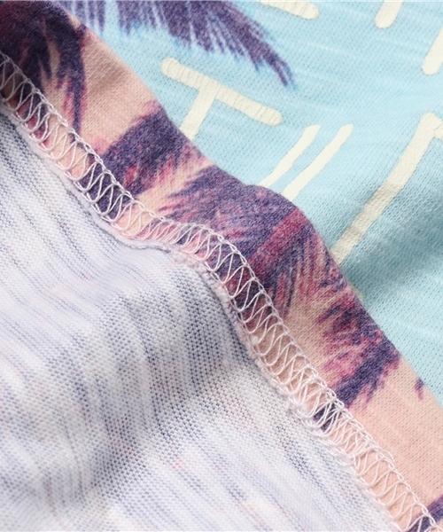 昇華転写リゾートプリント半袖Tシャツ(SURF)