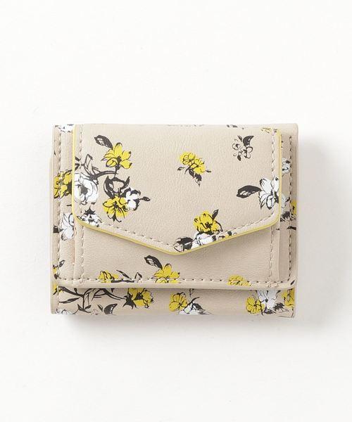 【Legato Largo】フラワー三つ折りミニ財布