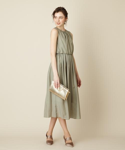 2f6742f784d8a AIMER(エメ)の「ネックギャザーローンロングワンピースドレス aimer anche