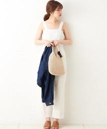 natural couture(ナチュラルクチュール)の大人シンプルサロペ(サロペット/オーバーオール)