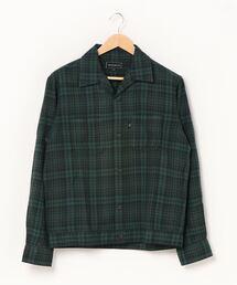 オープンカラーシャツグリーン系その他