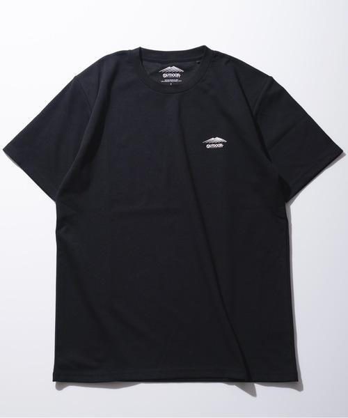 速乾/伸縮性ポンチ素材   ワンポイントブランドロゴTシャツ