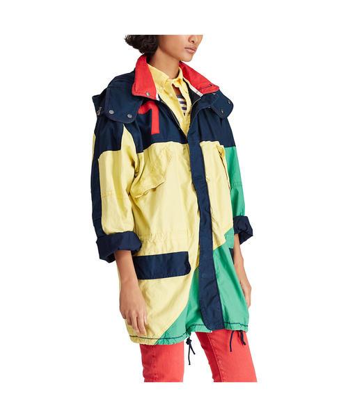 カラーブロック キャンバス ジャケット