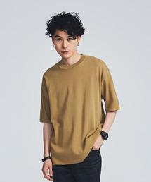 STUDIOUS(ステュディオス)の【STUDIOUS】ミラノリブニットTシャツ(Tシャツ/カットソー)