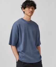 STUDIOUS(ステュディオス)の【STUDIOUS】ミラノリブサマーニットTシャツ(Tシャツ/カットソー)