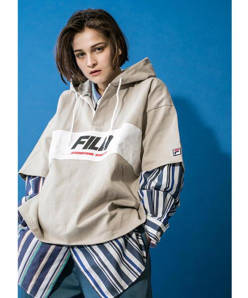 <FILA × monkey time> RGBY HOOD SS/ラガーシャツ